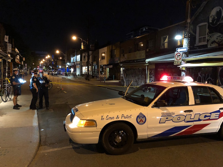 Police and paramedics say four people are injured after a shooting in Kensington Market Sunday night.