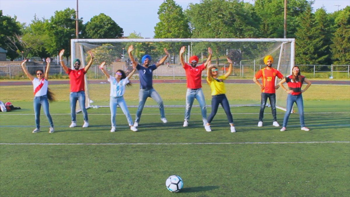 Montreal dance group Power Bhangra  produce a World Cup-inspired dance video.