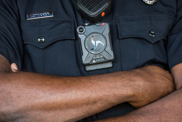 Body-worn cameras to be worn by Calgary police officers.