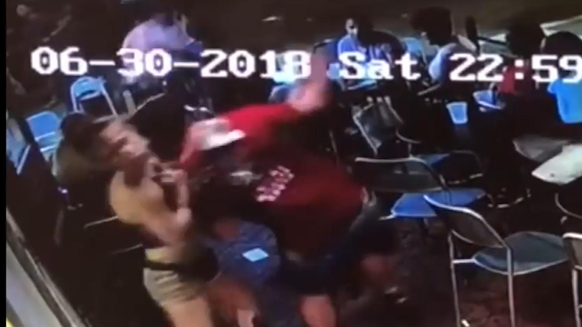 Waitress Body Slams Groper