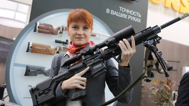 Maria Butina is shown in this image captured in Moscow, Russia, Oct. 14, 2013.