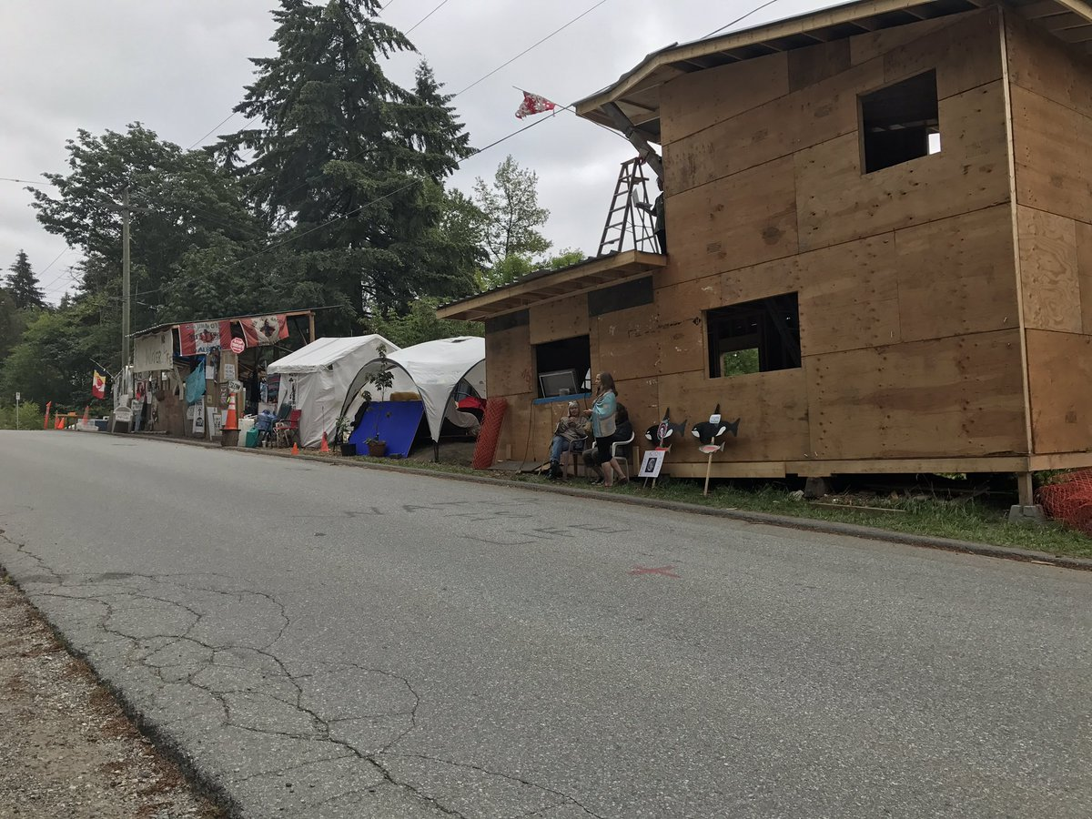 Protesters at Camp Cloud on Burnaby Mountain have been given 72 hours to clear the site of structures.