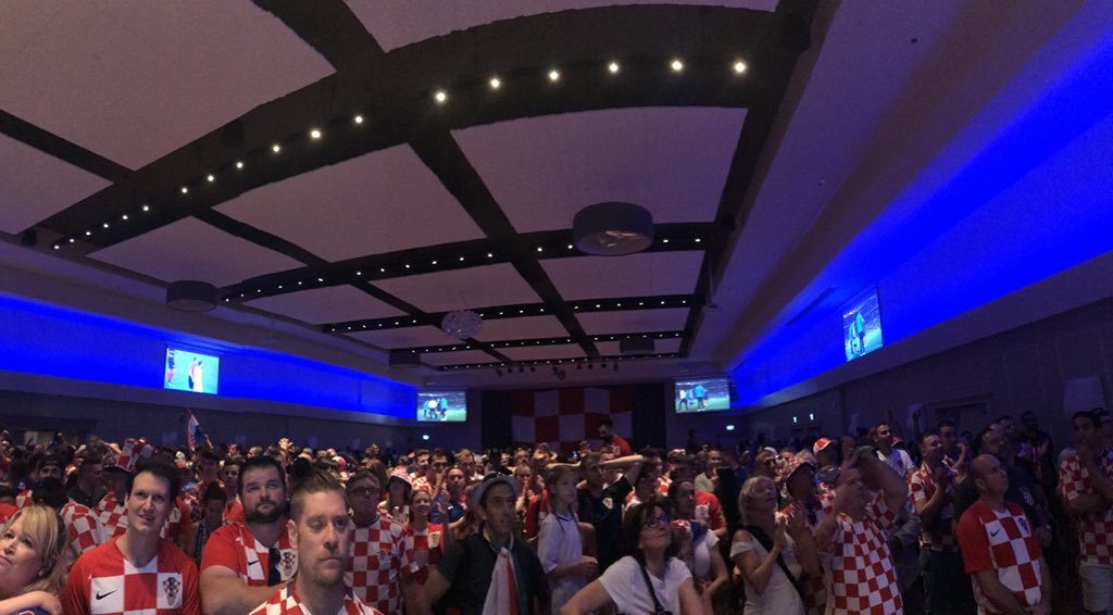 An estimated 1,000 fans packed the Croatian Cultural Centre last week to watch the team defeat England.