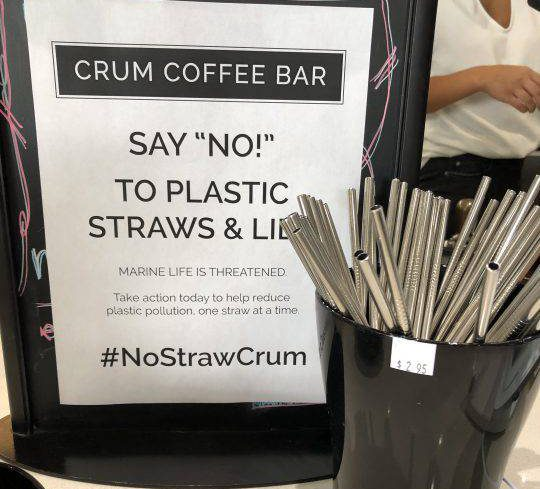 Crum Coffee Bar makes the switch to metal straws.