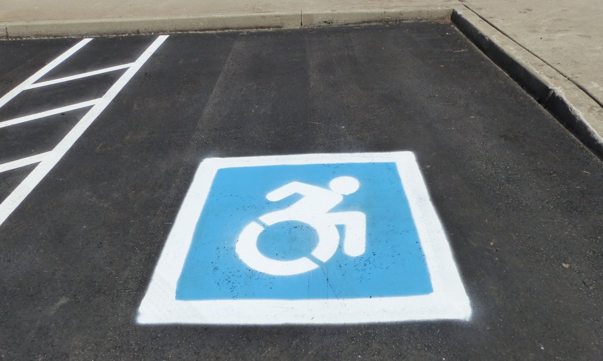 The new Dynamic Symbol of Access has been painted in parking lots across Ontario.