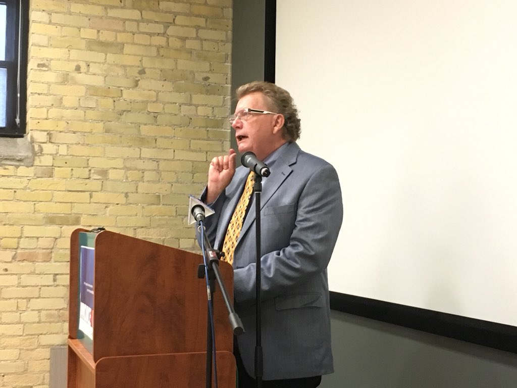 Ed Holder officially launched his mayoral campaign at Innovation Works Thursday.