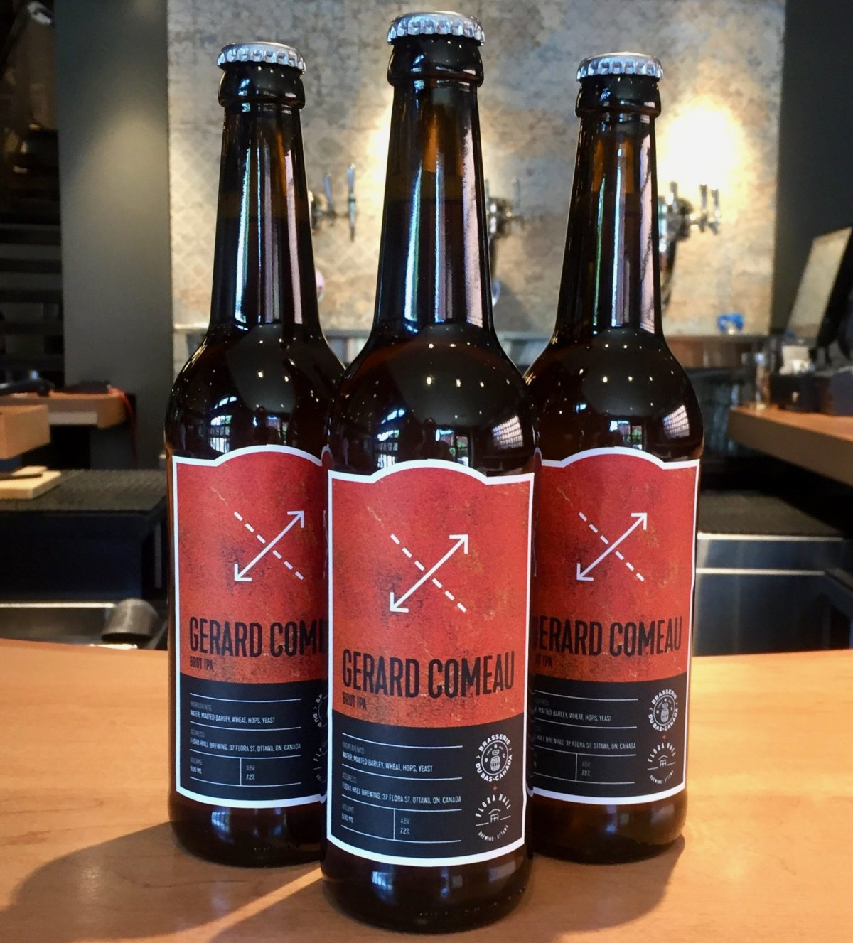 Ottawa's Flora Hall Brewing and Gatineau's Brasserie du Bas-Canada brewed their new Brut IPA in two locations so they could sell it in both Ontario and Quebec.