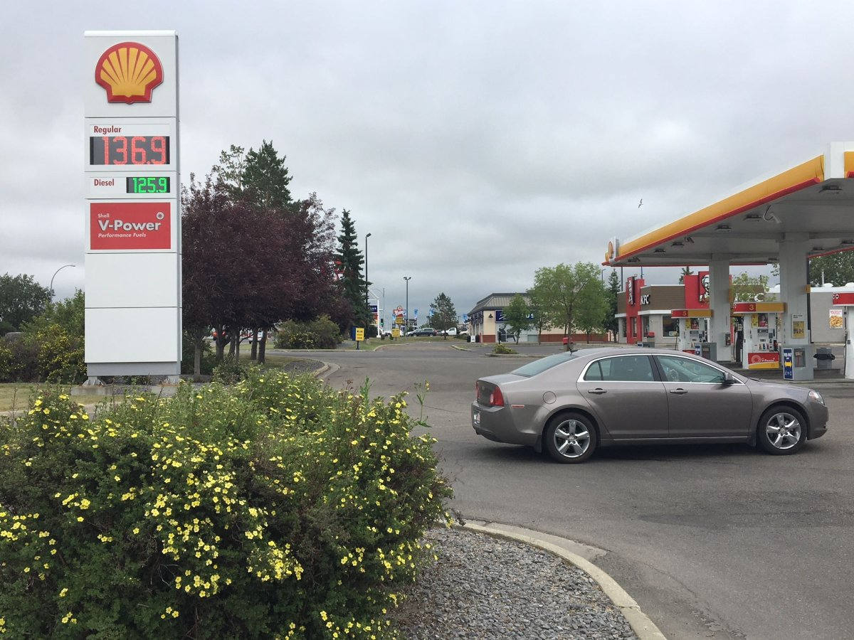 Edmonton gas prices increase to as much as $1.36 per litre at some stations, Wednesday, July 4, 2018.