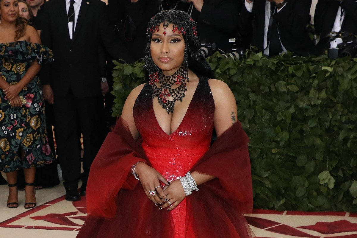 "Nicki Minaj attends ""Heavenly Bodies: Fashion & the Catholic Imagination"", the 2018 Costume Institute Benefit at Metropolitan Museum of Art on May 7, 2018 in New York City."