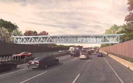 Seen here is a concept image of what the new Harmer Avenue pedestrian bridge will look like after construction is completed.