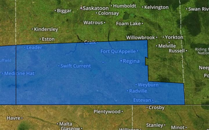 Environment Canada has issued a heat warning across southern Saskatchewan.