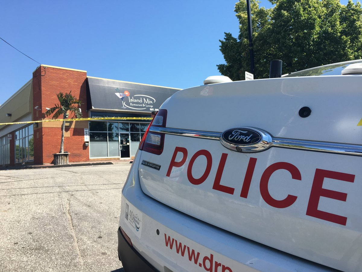 Durham police are investigating after an early-morning shooting near a Pickering, Ont., restaurant on Friday.