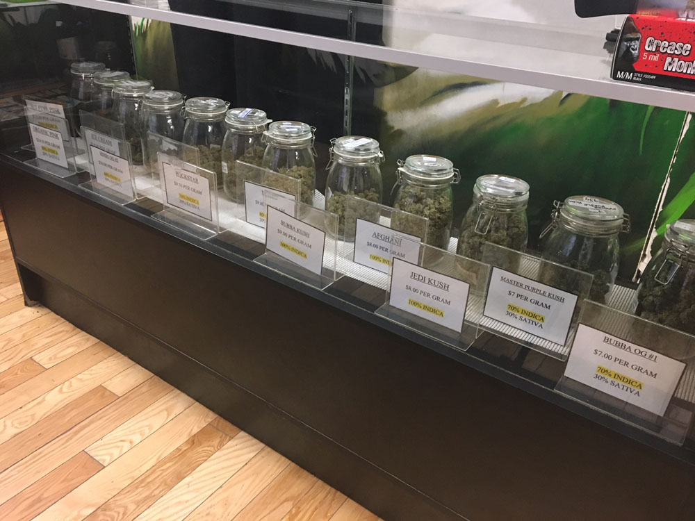 Marijuana is offered for sale in an Ottawa dispensary, July 27, 2018.