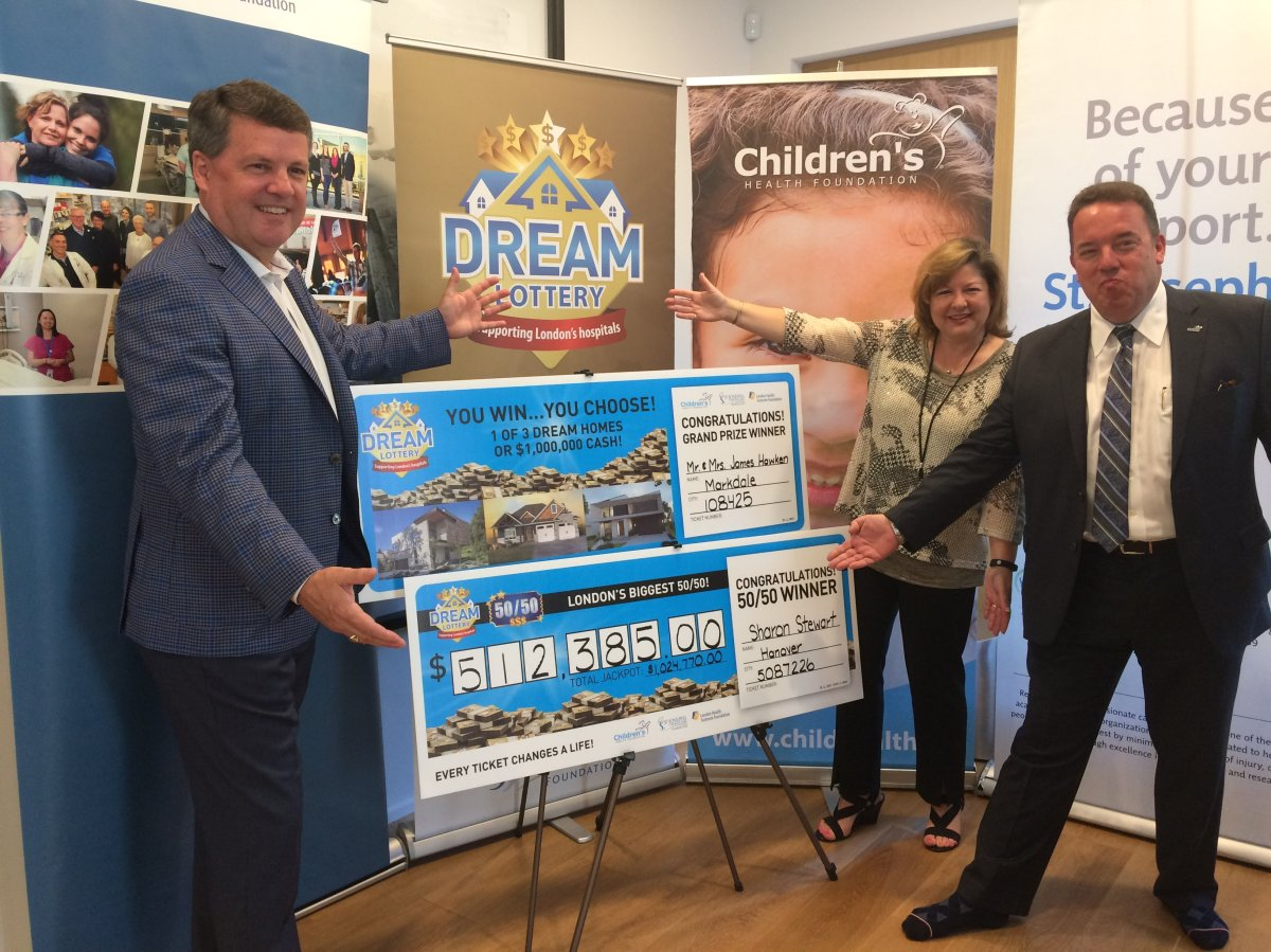 Officials unveil the winners of the 2018 Spring Dream Lottery.
