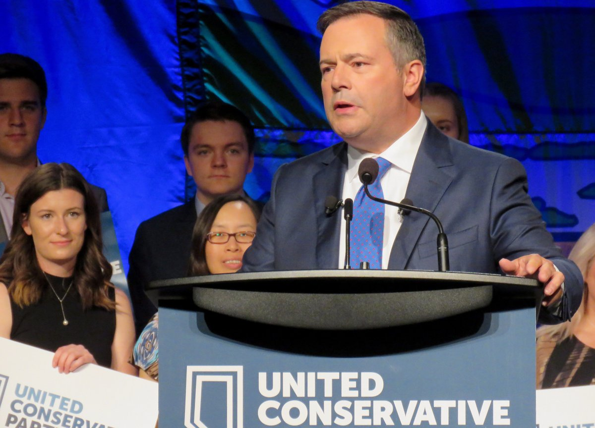 United Conservative Party Leader Jason Kenney, addressing friction in some party candidate nomination races, told supporters in a speech Sunday to respect the outcomes and that those who espouse hate will be turfed. Kenney is seen speaking to supporters in Edmonton on Sunday, July 22, 2018.
