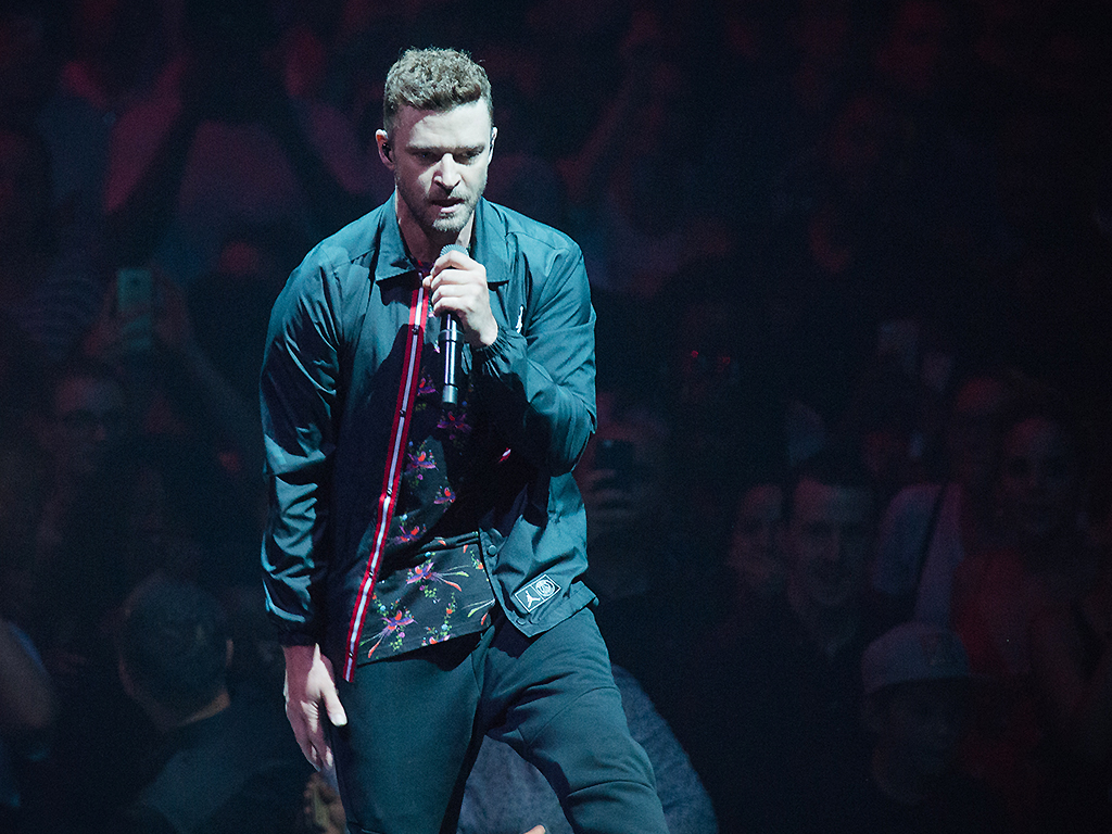 Justin Timberlake performs at AccorHotels Arena on July 3, 2018 in Paris, France.