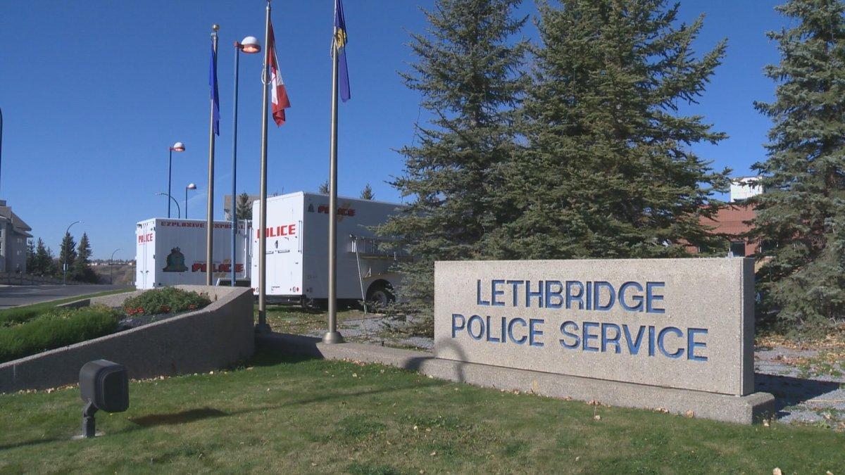 File photo of Lethbridge Police Service building.