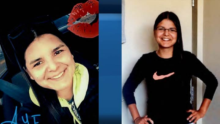 RCMP are trying to locate Ashley Dawn Morin (left and right) who was last seen in North Battleford on July 10, 2018.