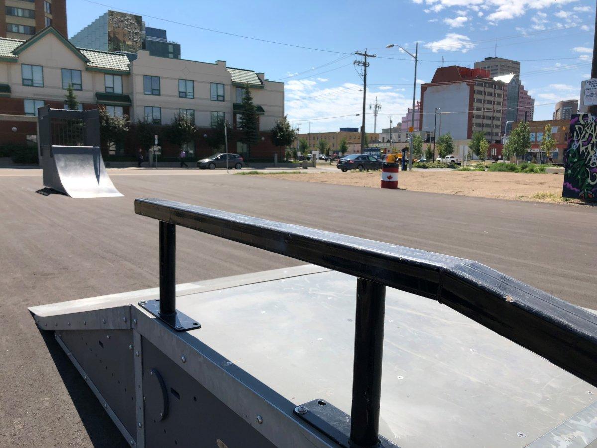 The Quarters Skatepark in downtown Edmonton.