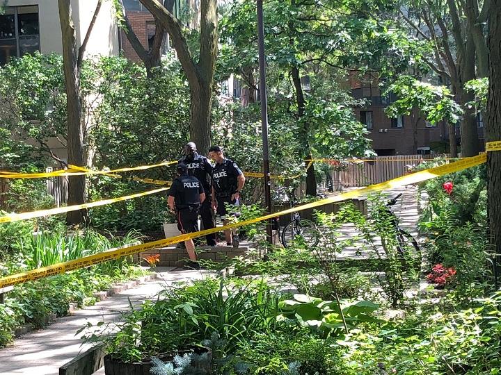 Toronto police investigate after a daylight double stabbing near the Regent Park neighbourhood.