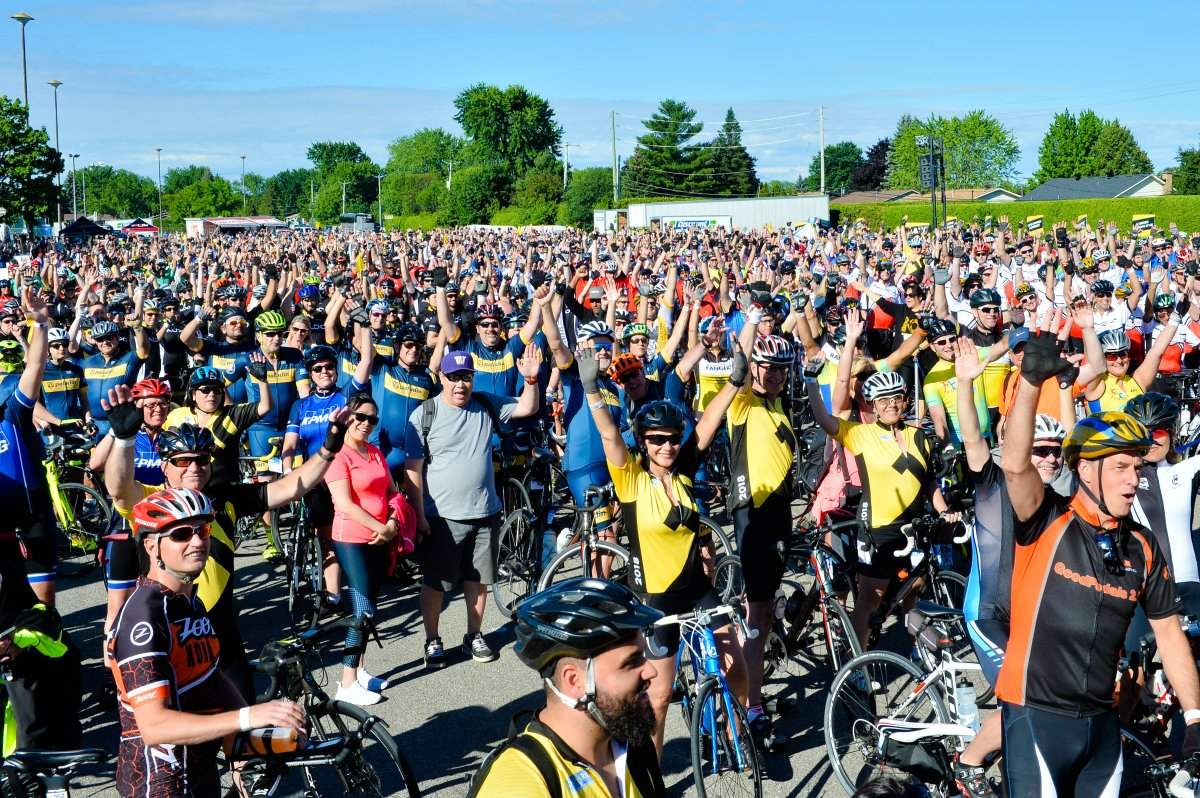 1308 participants joined the 2018 Quebec edition of The Enbridge Ride to Conquer Cancer. Saturday, July 7, 2018.