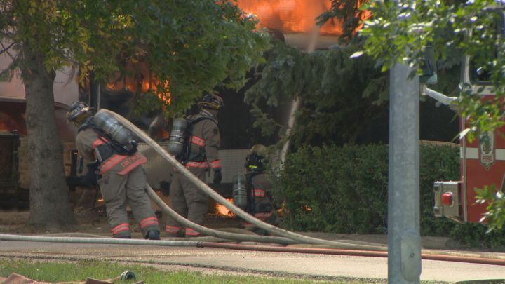 The cause of a fire that heavily damaged three homes in Saskatoon's Montgomery Place neighbourhood was stain-soiled rags that spontaneously combusted.