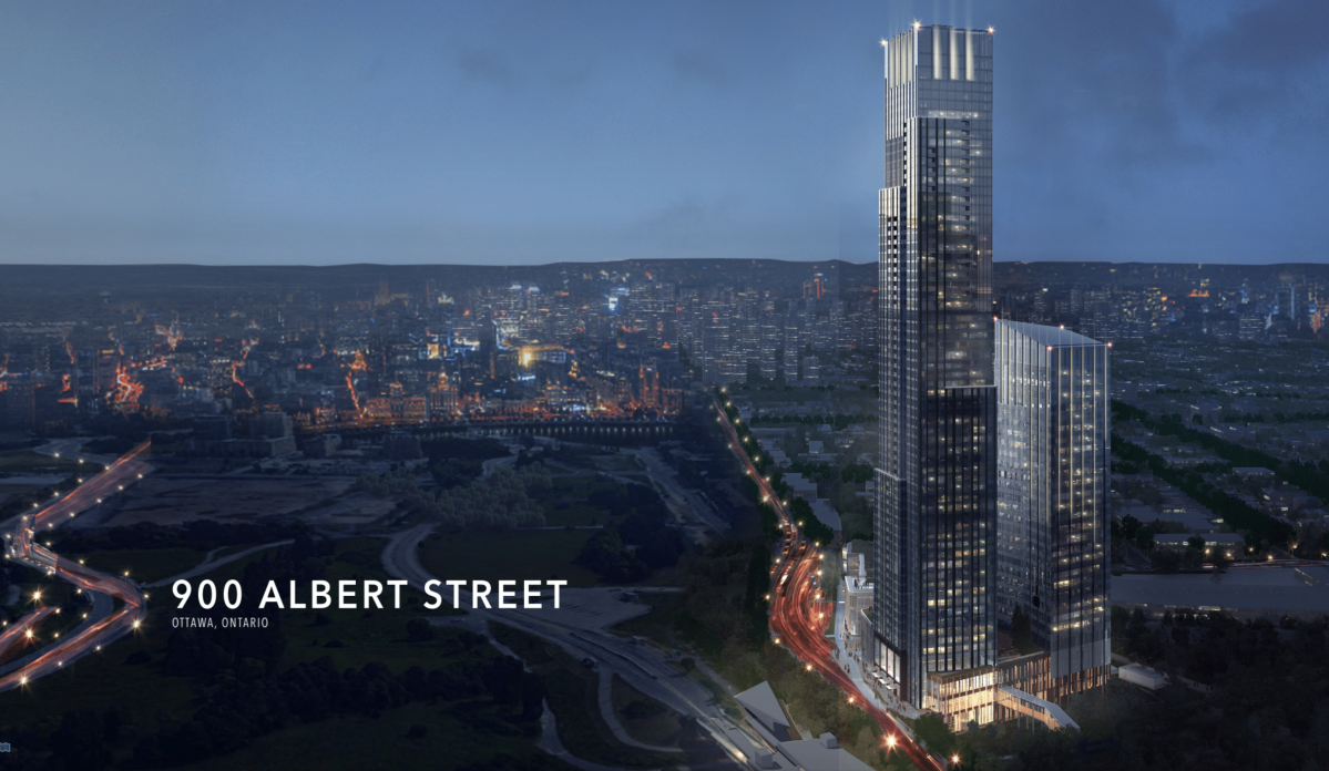 Proposed design for 900 Albert St., in Ottawa.