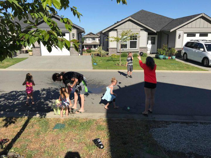 Children play in the Artisan Gardens neighbourhood.