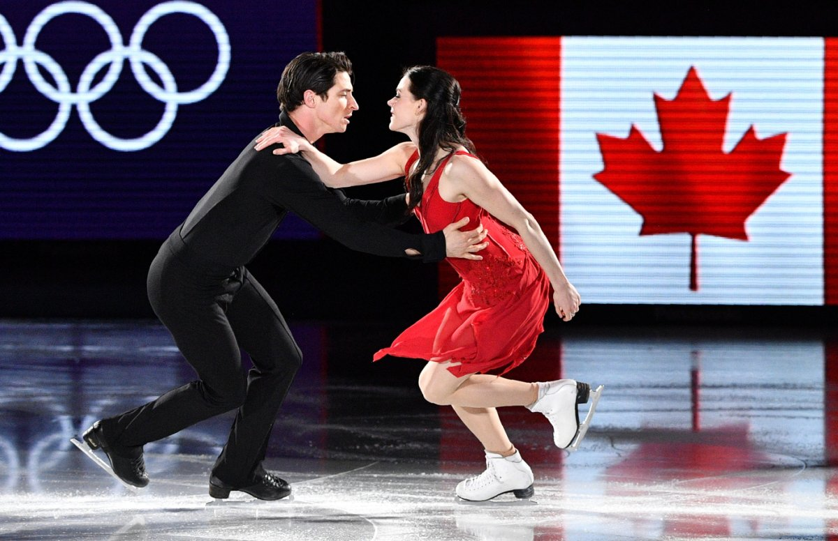 Canada's Tessa Virtue and Scott Moir perform during the Pyeongchang 2018 Winter Olympic Games on February 25, 2018.