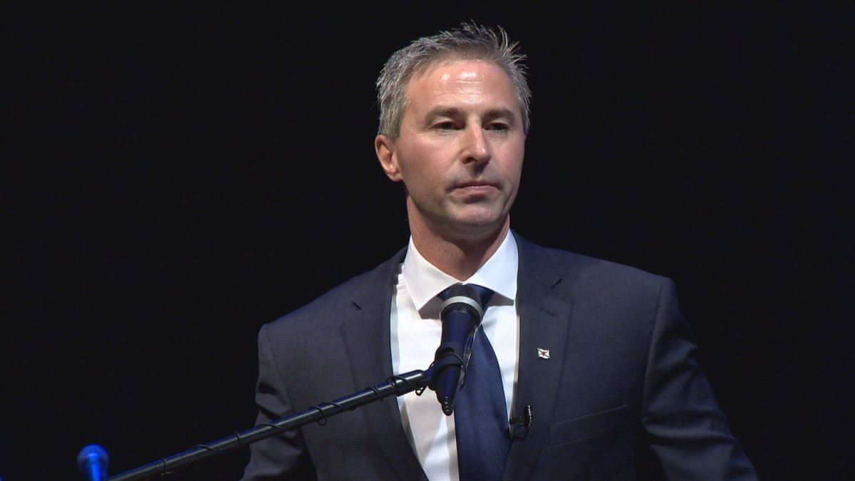 Tim Houston is distancing the province's Progressive Conservative party from text messages sent as part of a federal Conservative outreach campaign.