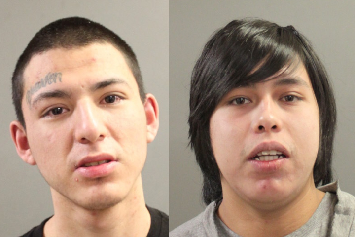 Police are searching for suspects Tommy Beaulieu and Jonah Perswain.