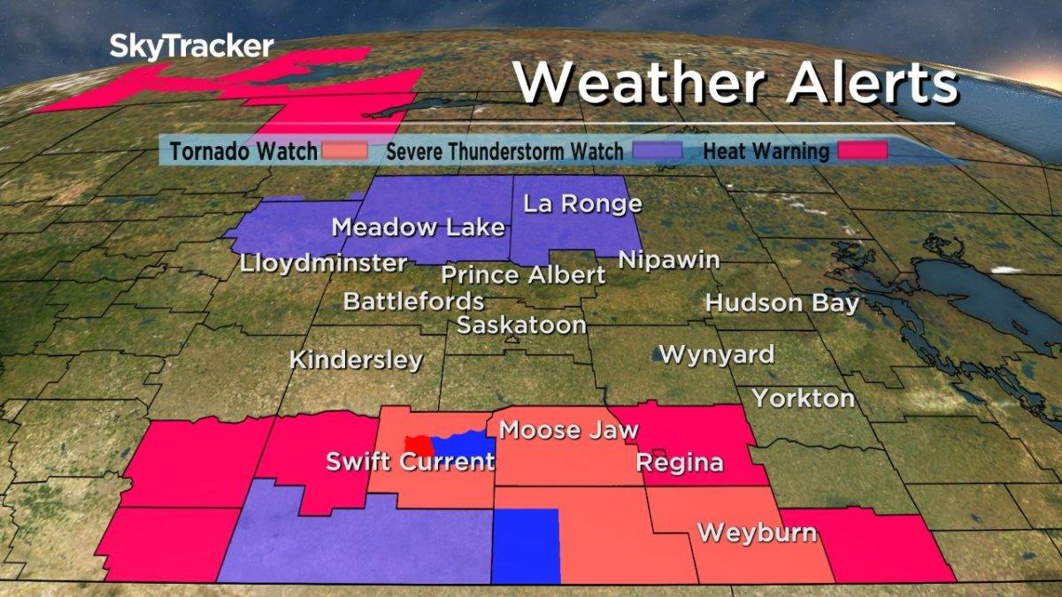 Environment Canada weather advisories.