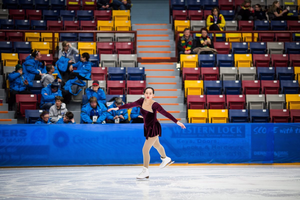 Canadian Special Olympics figure skater Katie Xu is shown in a handout photo.