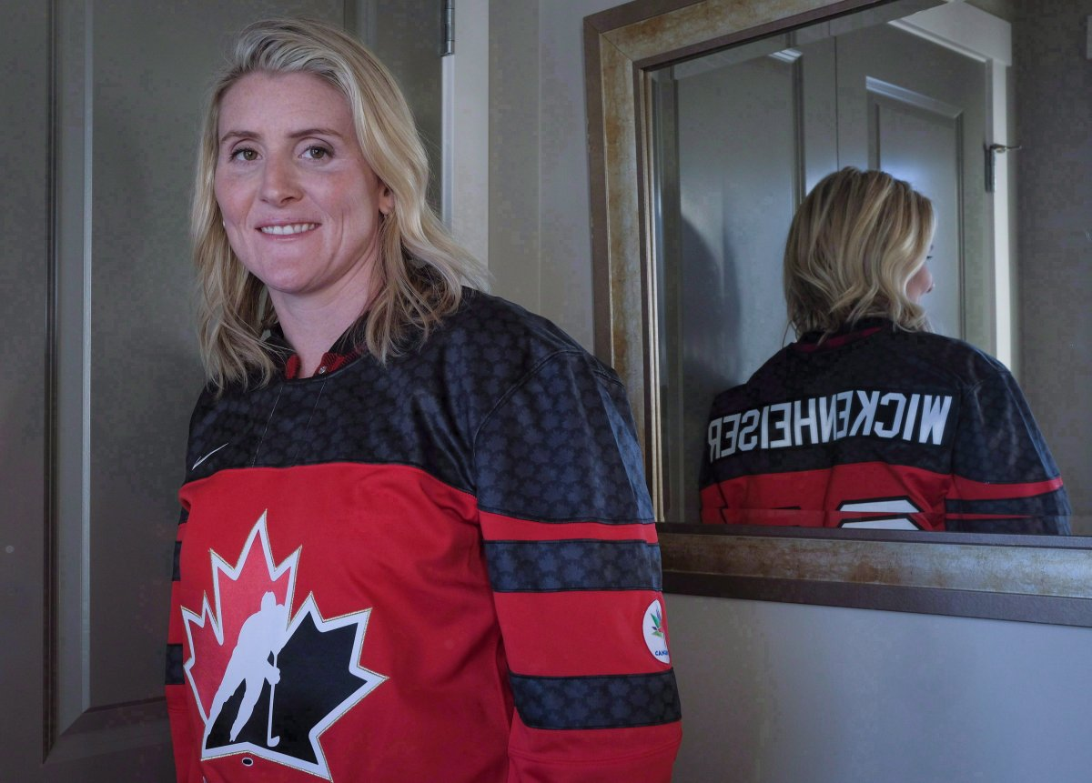Four time Olympic gold medalist Hayley Wickenheiser poses for a portrait in Calgary on January 11, 2017.