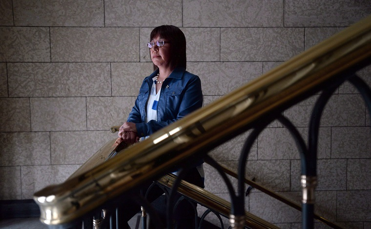 NDP MP Georgina Jolibois is pictured on Parliament Hill in Ottawa on Thursday, Feb. 25, 2016.