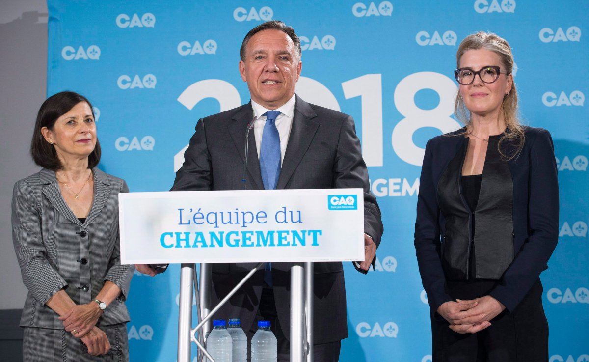 The CAQ leader has promised a gender-balanced cabinet.