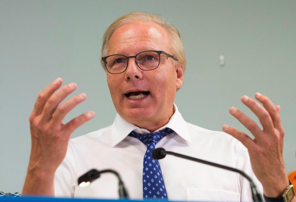 Parti Québécois Leader Jean-François Lisée announces improvements to the parental leave plan while campaigning Wednesday, August 29, 2018 in Nicolet, Que.