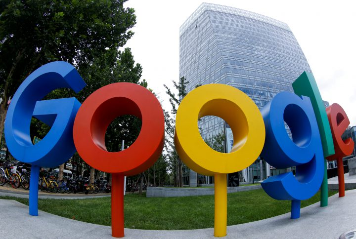 The brand logo of Alphabet Inc's Google is seen outside its office in Beijing, China Aug. 8, 2018.