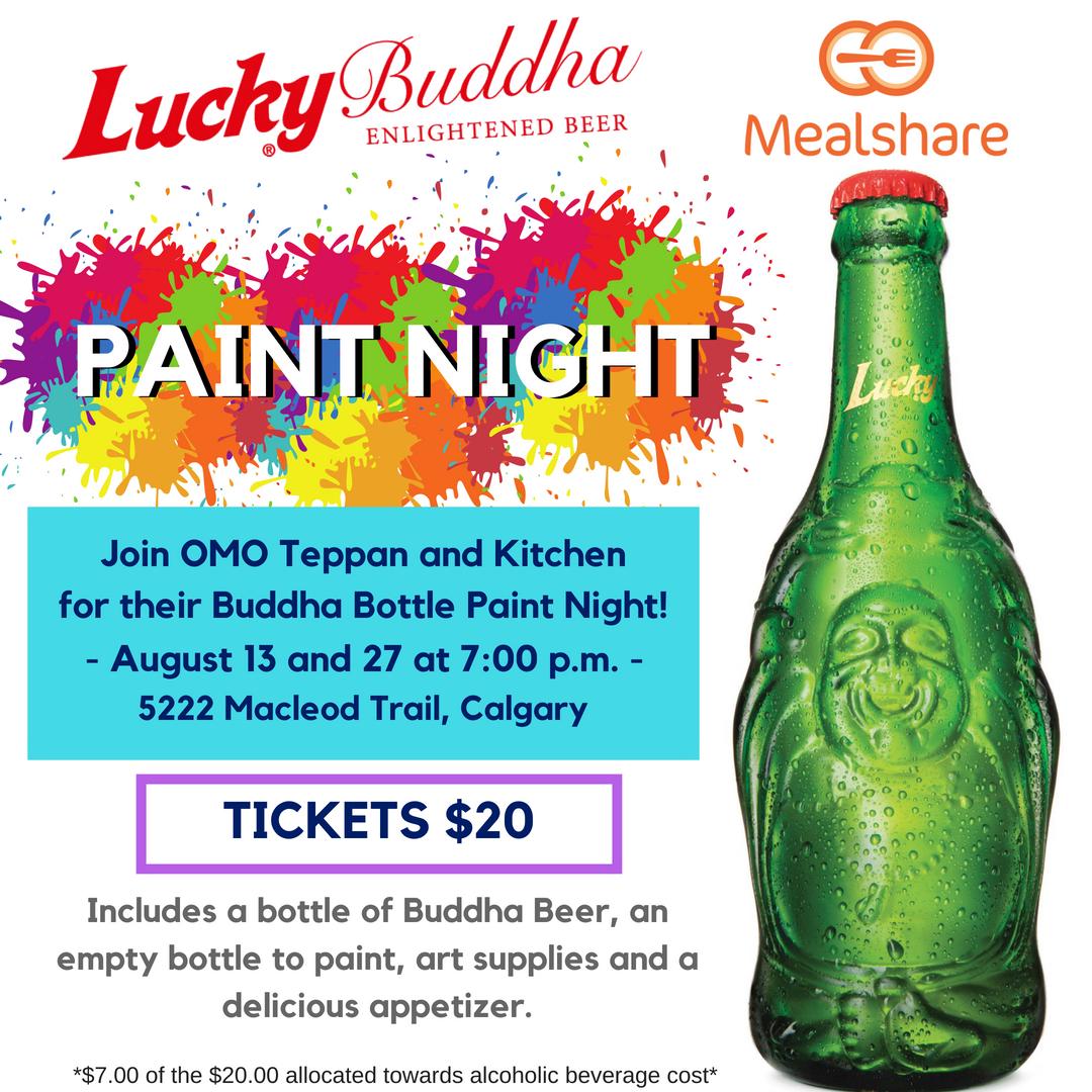 Omo Teppan And Kitchen Buddha Bottle Painting Night Calgary Globalnews Ca