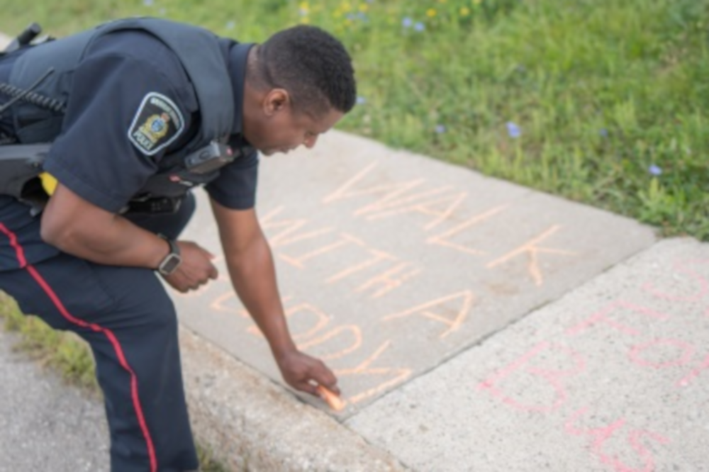 Waterloo police launched their annual Walk the Chalk event this week.