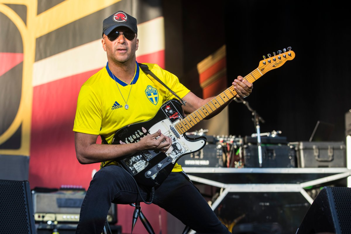 Tom Morello of the band Prophets of Rage performs in concert at Grona Lund on June 26, 2018 in Stockholm, Sweden.