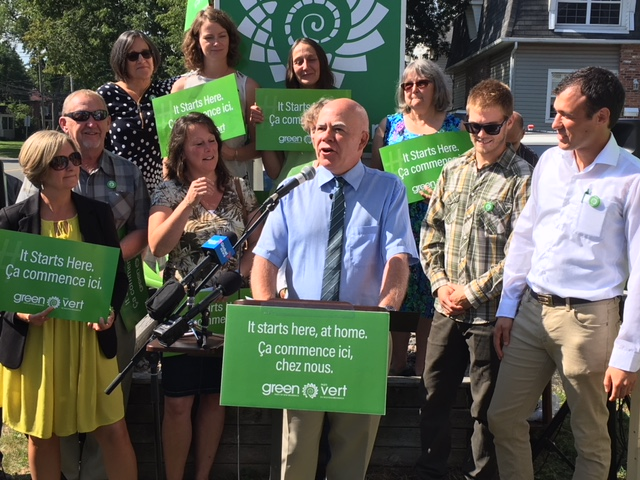 Leader David Coon kicks off the New Brunswick Green Party's 2018 election campaign on Monday August 21st, 2018.