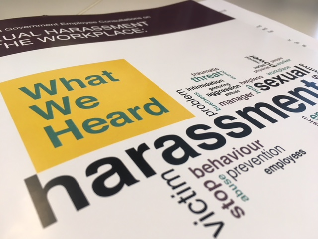The new report from the Manitoba Government shows hundreds of employees have dealt with sexual harassment.