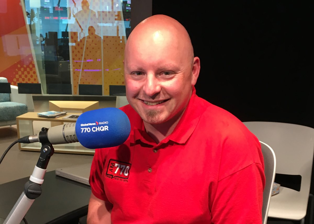 Joe McFarland, in his new broadcast position as host of Calgary Today on 770 CHQR.