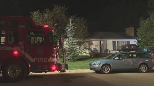 A fire caused damage to a home and some garagesnear 87 Avenue and 145 Street in west Edmonton's Parkview neighbourhood Monday night. August 20, 2018..