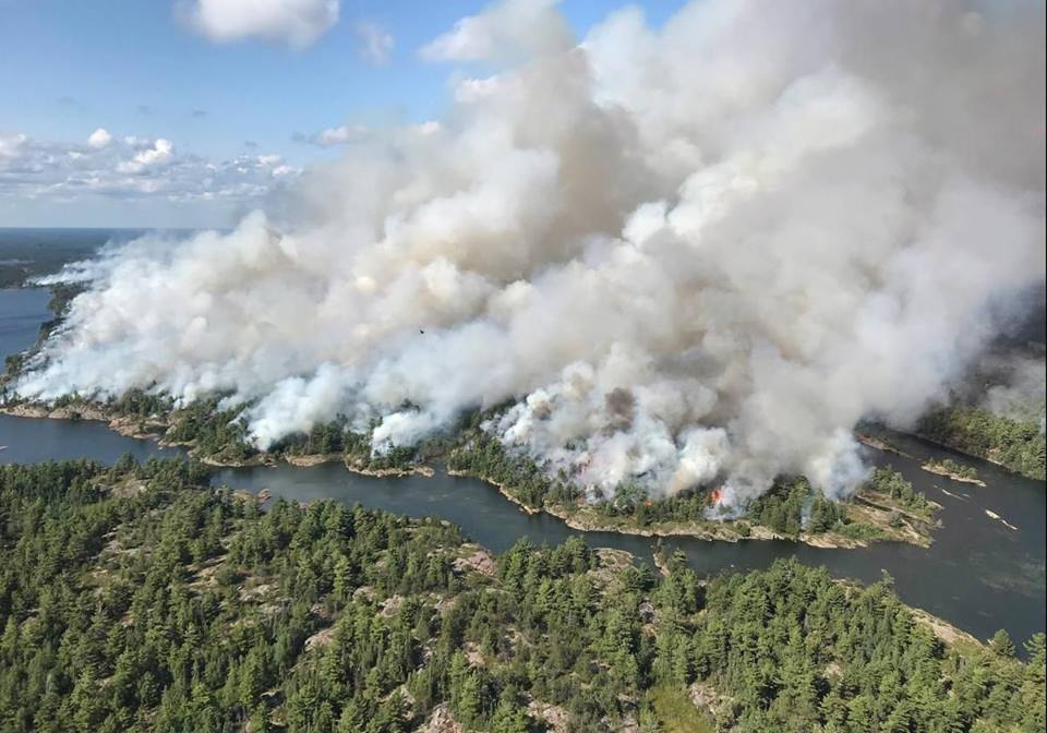 The Parry Sound 33 forest fire which covered 11,362 hectares is officially 'under control.'.
