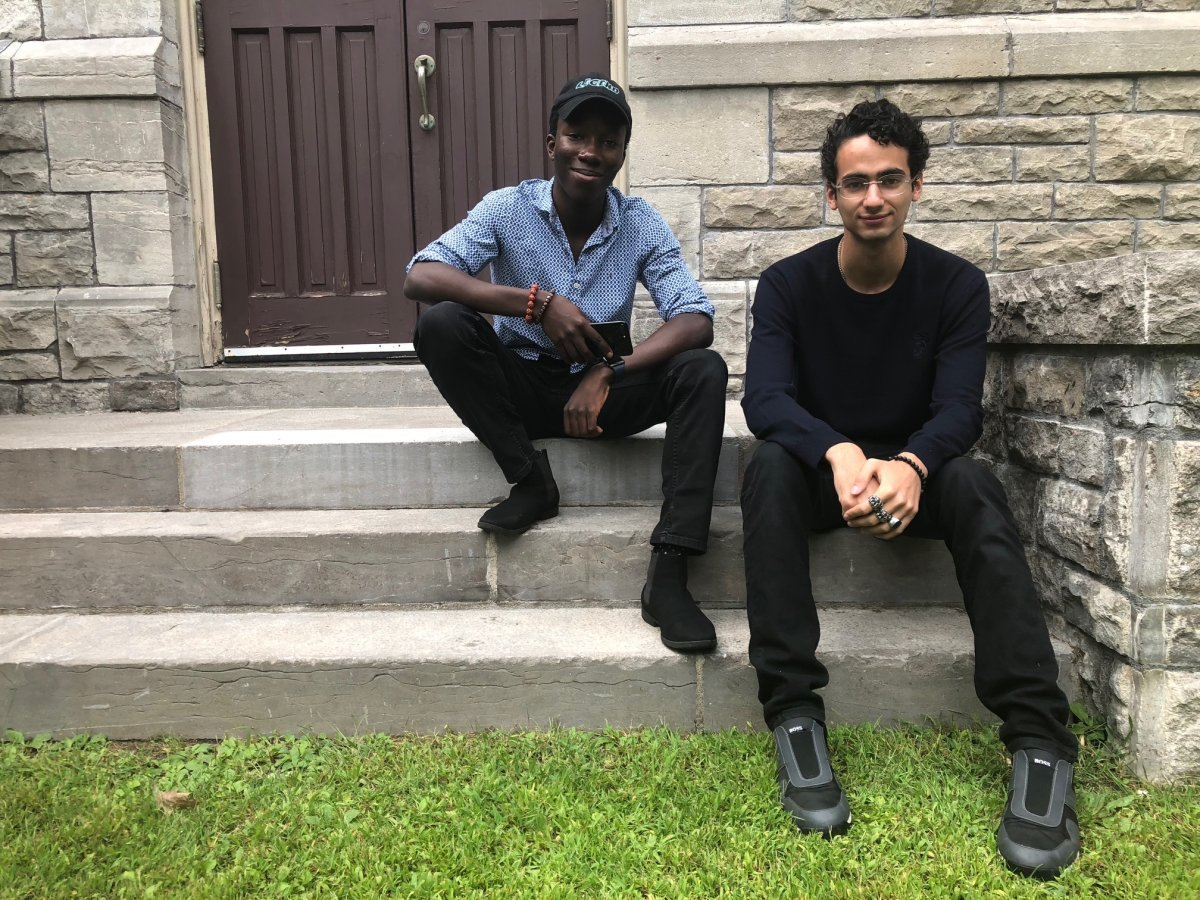 Ottawa coder Abdou Sarr (left) and photographer Mo Alissa (right) are pictured here at Ottawa city hall on Aug. 27, 2018. The two 20-year-old friends say their new photo app, FILM3D, will allow people to easily capture 3D pictures on their smartphones.