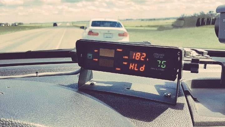 RCMP caught a man speeding at 182 km/h near Carberry.