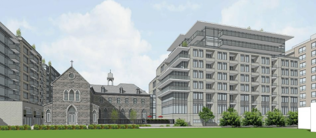Ashcroft Homes wants to demolishthe former convent's west and south wings to make way for a nine-storey residential and commercial addition. The Ottawa developer said it would also restore many of the convent's key historic features.