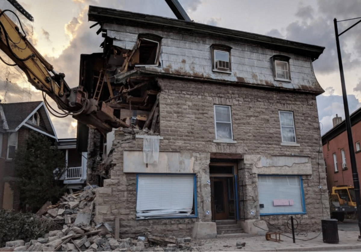 """Work to stabilize the partially collapsed Magee House in Hintonburg and reopen the sidewalk in front of it will begin """"in a matter of days,"""" City of Ottawa staff said on Tuesday. The exact start date, however, depends on how the weather holds up."""